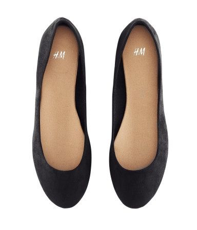 Black ballet flats--basic and yet polished, to support any kind of outfit.
