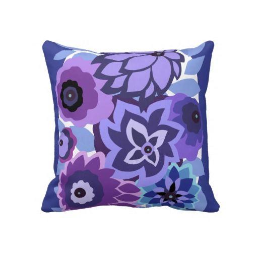 Blue Purple Throw Pillows : 19 best Purple pillows images on Pinterest Purple cushions, Purple pillows and Purple throw ...