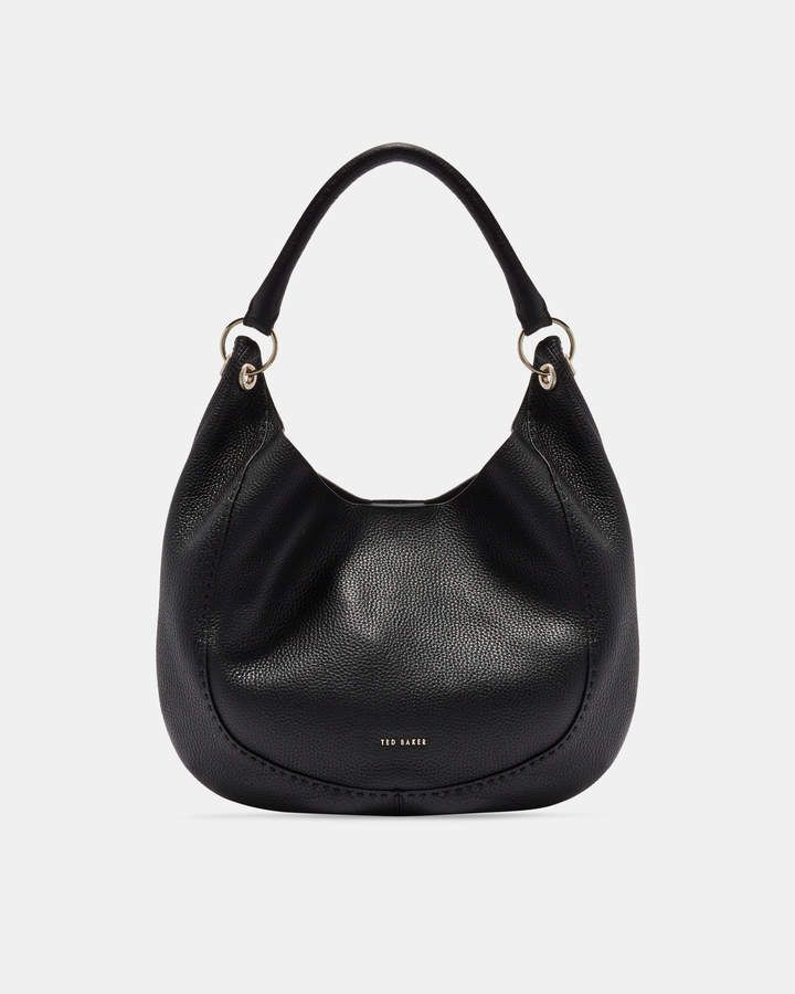 c3e232f30a9537 Ted Baker OLLIEAA Knotted handle leather hobo bag | All The ...