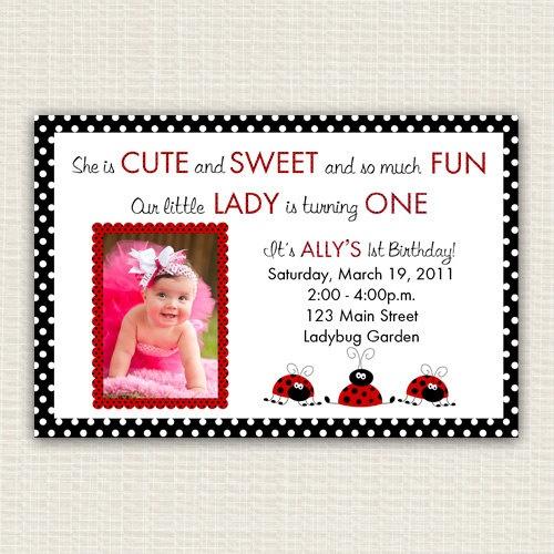 Ladybug Birthday Invitation