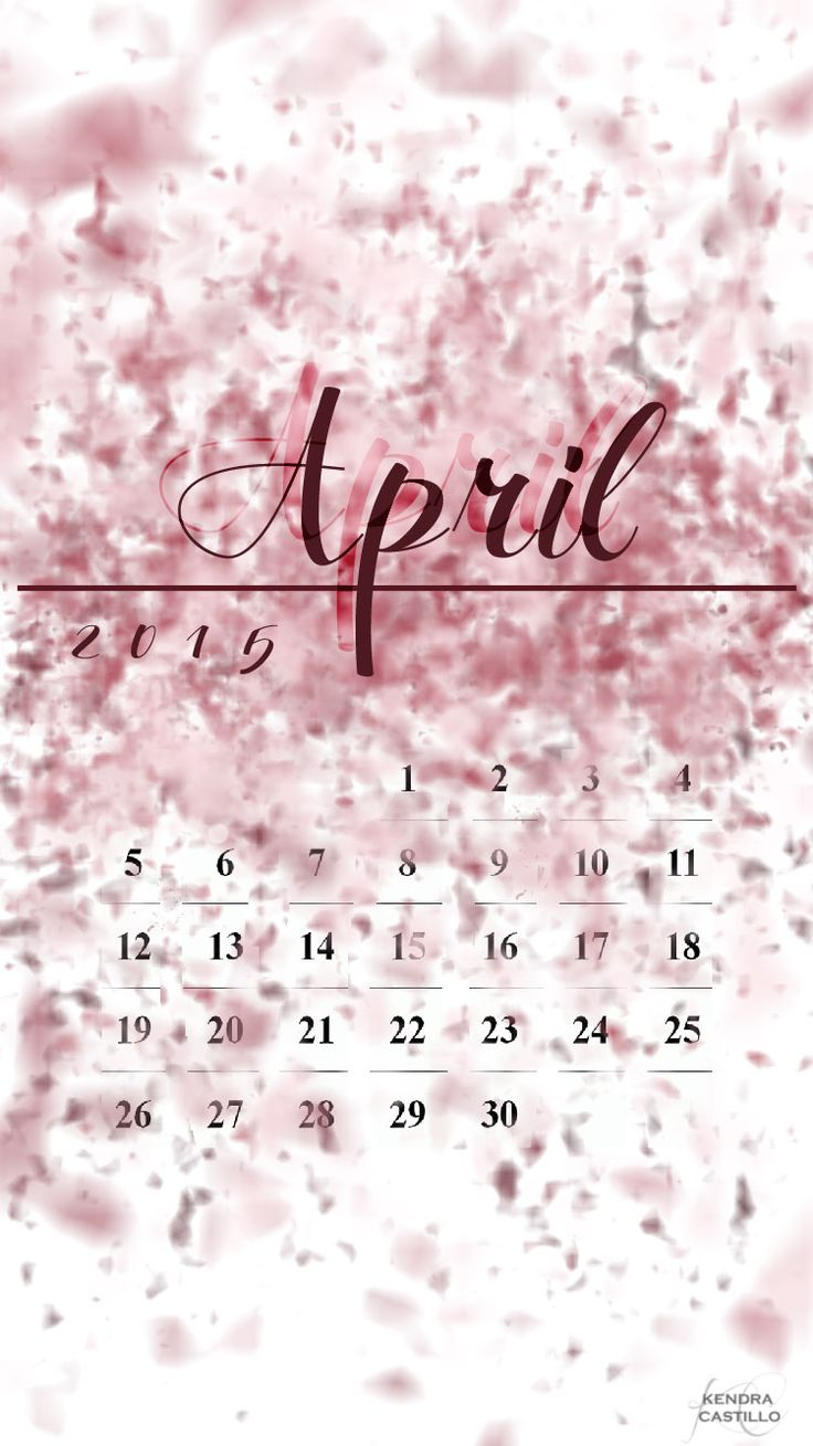 April 2015 Calendar Design | free downloads for desktop & iPhone