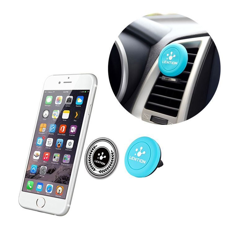 1PC Universal Car Magnetic Air Vent Mount Clip Holder Stand For iPhone Samsung Galaxy Cell Phone Tablet GPS 3 Colors
