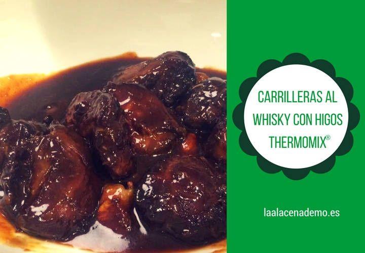 Cómo hacer carrilleras al whisky con Thermomix: con una rica salsa de whisky con higos y vino oloroso (tipo Pedro Ximenez) que resulta espectacular!