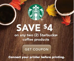 *HOT!* $4/2 Starbucks coupon = FREE Starbucks! - Money Saving Mom®