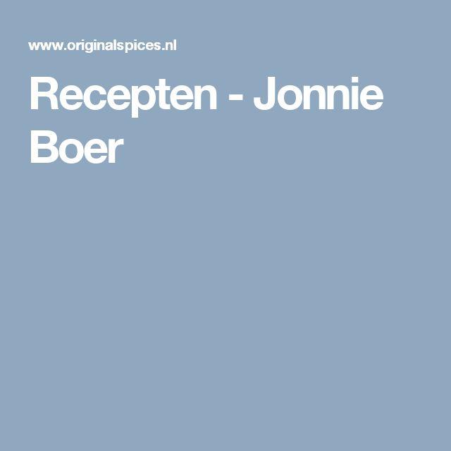 Recepten - Jonnie Boer