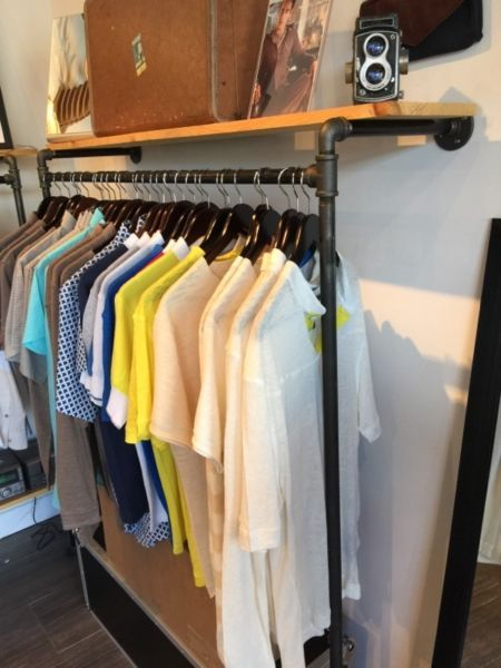 4 Set Of Custom Made Industrial Gas Piping Clothing Racks