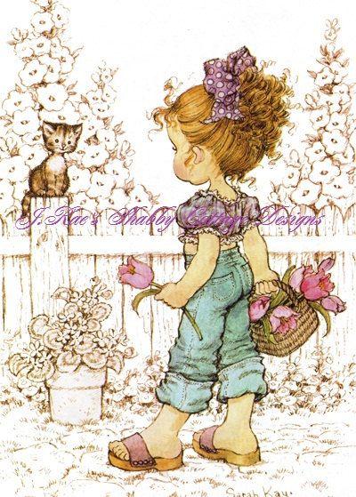 Carino piccolo Vintage Holly Hobbie stampa di JRaesShabbyCottage, $15.00