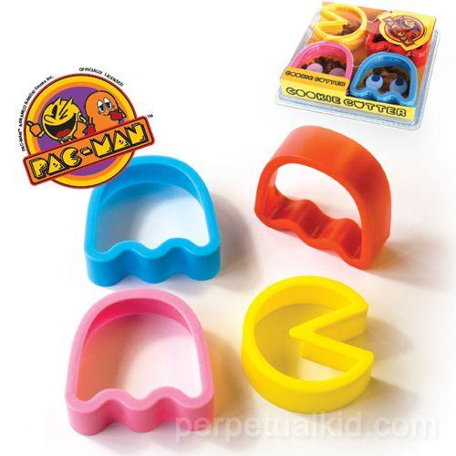 Pacman Cookies, Gamer Cookies, Cookies Parties, Cookies Cutters, Cookie Cutters, Fun Cookies, Pac Man Cookies