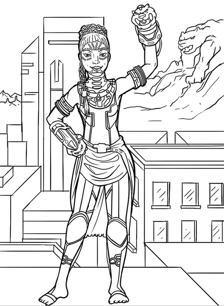 Princess Shuri Black Panther Coloring Book Colouring Book