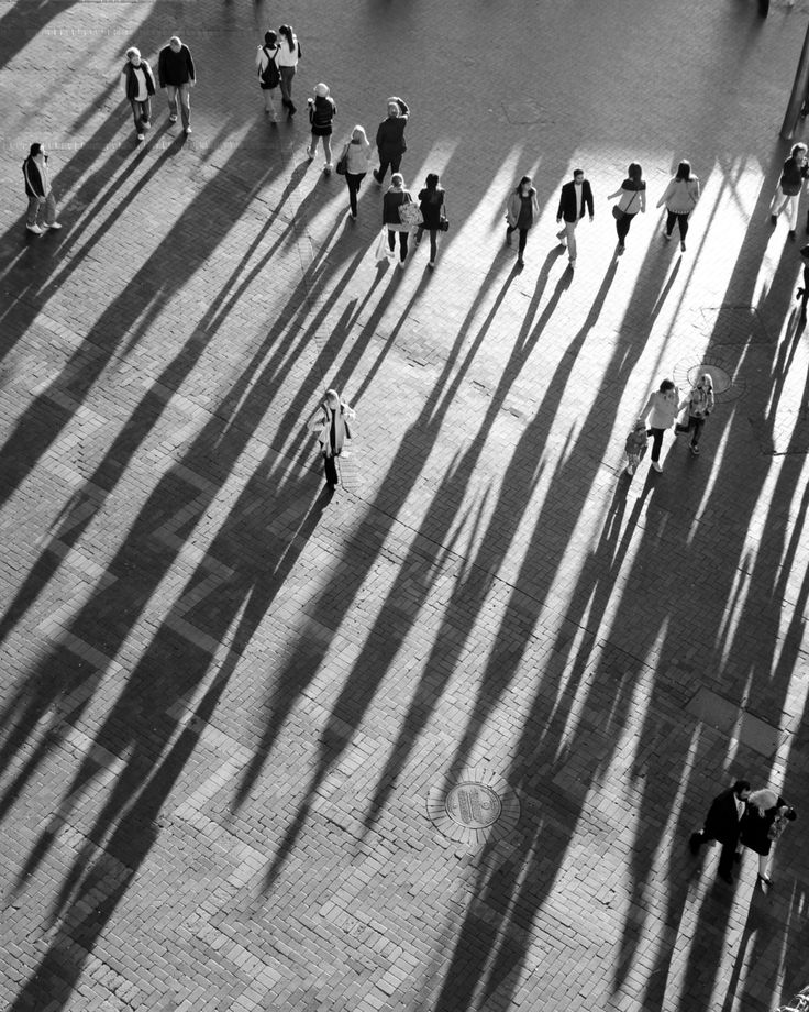 ♂ Perspective black and white photography Long Shadows