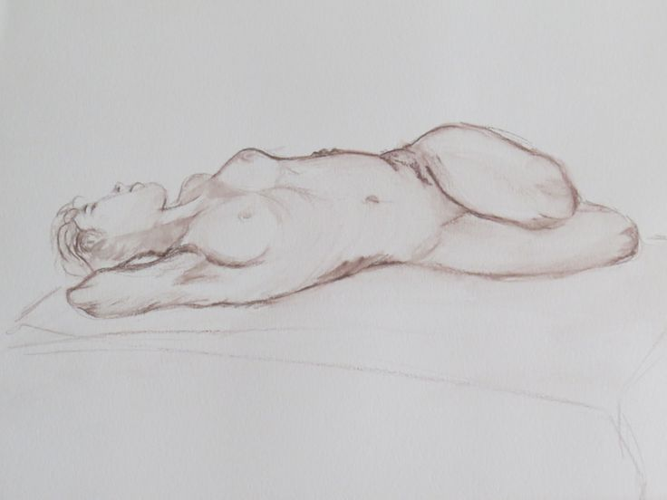 Life drawing 15 minute pose Fiona