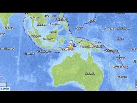 Sismo de magnitud 6.3 entre Indonesia y Timor Oriental