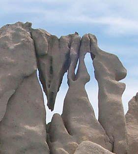 Wind carved stone on the east coast of Sardinia