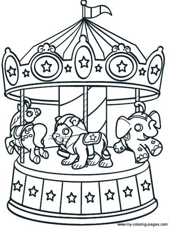 simple Carnival Carousel Printable