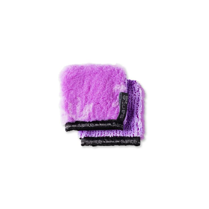 Face Glove - Lilac: Reusable skin care product for natural cleansing using just water. Two-in-one face cleanser and exfoliator for a clean and clear complexion.