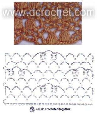 Nuts-net lacy stitch | Dcrochet: Diagrams Patterns