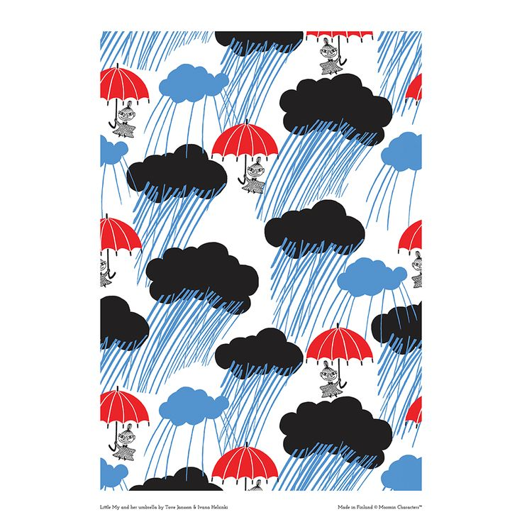 Moomin poster - Little My and her umbrellaby Tove Jansson