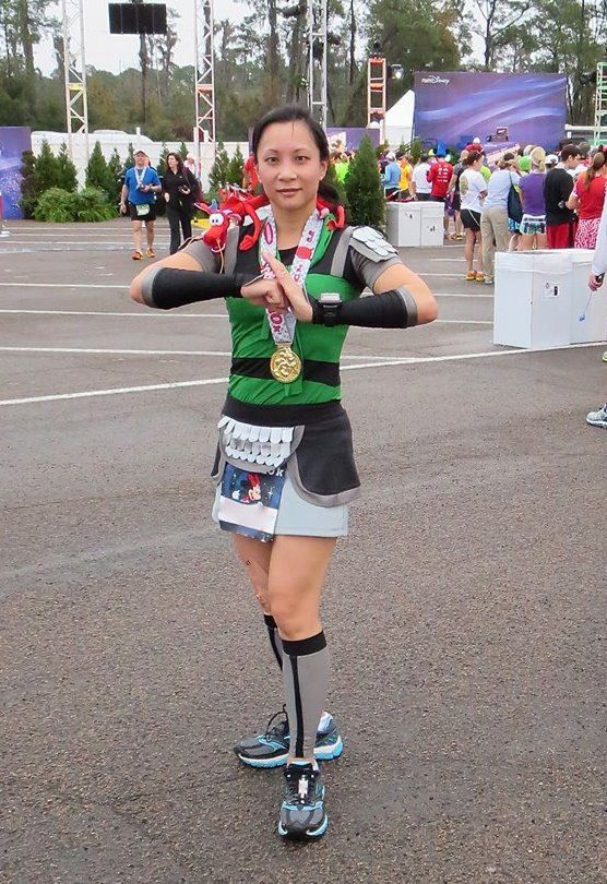 Princess Mulan inspired complete running outfit by iGlowRunning - This woman has some of THE COOLEST runner's outfits