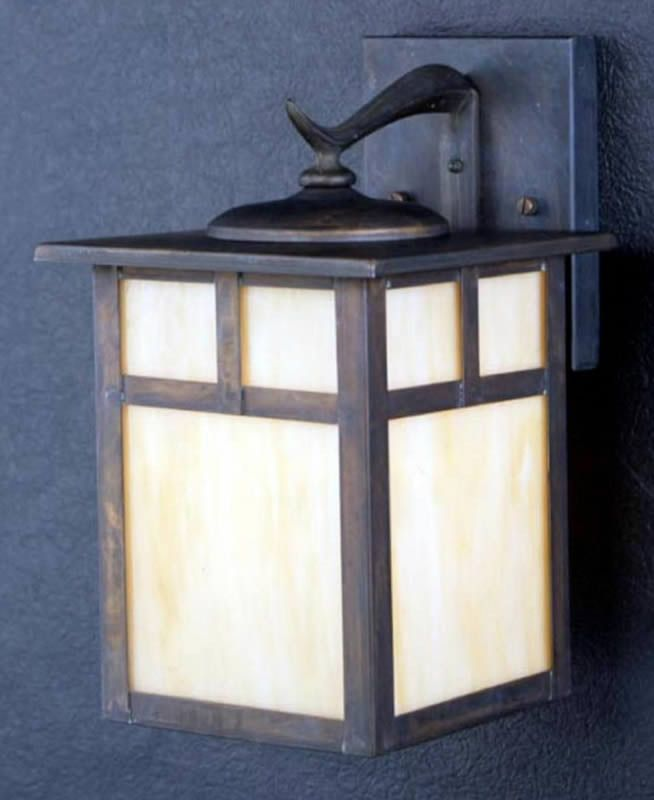 Kichler Alameda 1-Light Outdoor Wall Lantern Canyon View 9651CV | LampsUSA
