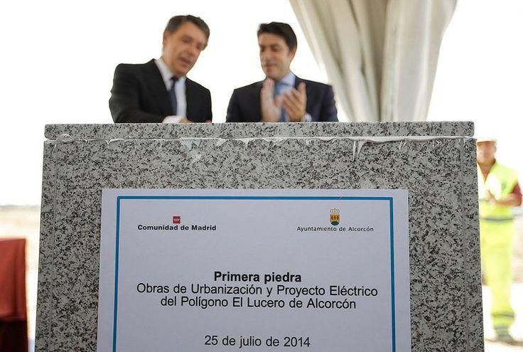 Ignacio González pone la primera piedra del polígono industrial El Lucero en Alcorcón dónde se instalará el nuevo IKEA