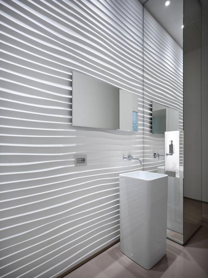 3d Wandpaneele Sind Als Elegante Raumaufwertung Im Trend 3d Wandplatten Wandpaneele Und Badezimmer Design