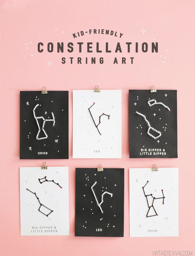 Cool and Simple DIY String Art for Kids   http://diyready.com/12-easy-diy-string-art-ideas-to-hang-in-your-home/
