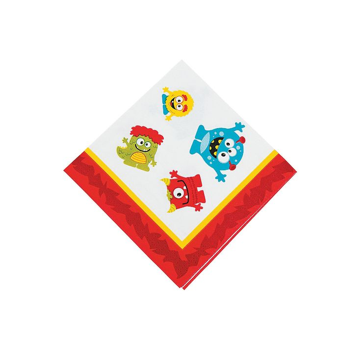 Mini Monster Beverage Napkins - OrientalTrading.com $2.00 - 16