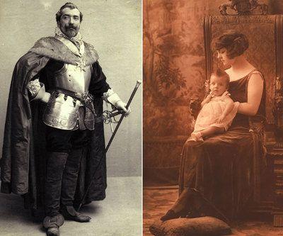 Emilio Fernández Tiffon, hijo de Antonio y Anaïs, disfrazado de Cardenal Richelieu (1891) y 'Retrato de mujer' (1910-1920) realizado en el mismo sillón que se puede ver en la exposición. / AFB (via elpais.com)