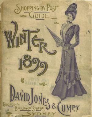 David Jones' winter mail-order catalogue from 1899.