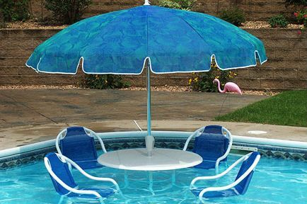 Umbrella pool accessories curated by ecocircuit for Pool design kelowna