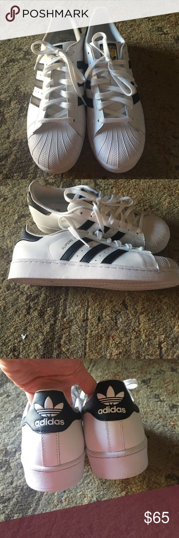 NEW Adidas superstars Brand new never even worn Adidas superstars for men size 8 for additional pics just ask adidas Shoes Sneakers