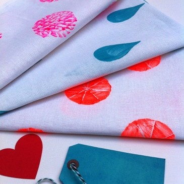 'Neon Pink Coral', 'I Said Dry Me'  & 'Squeeze Me' Set of 3 tea towels $59.95