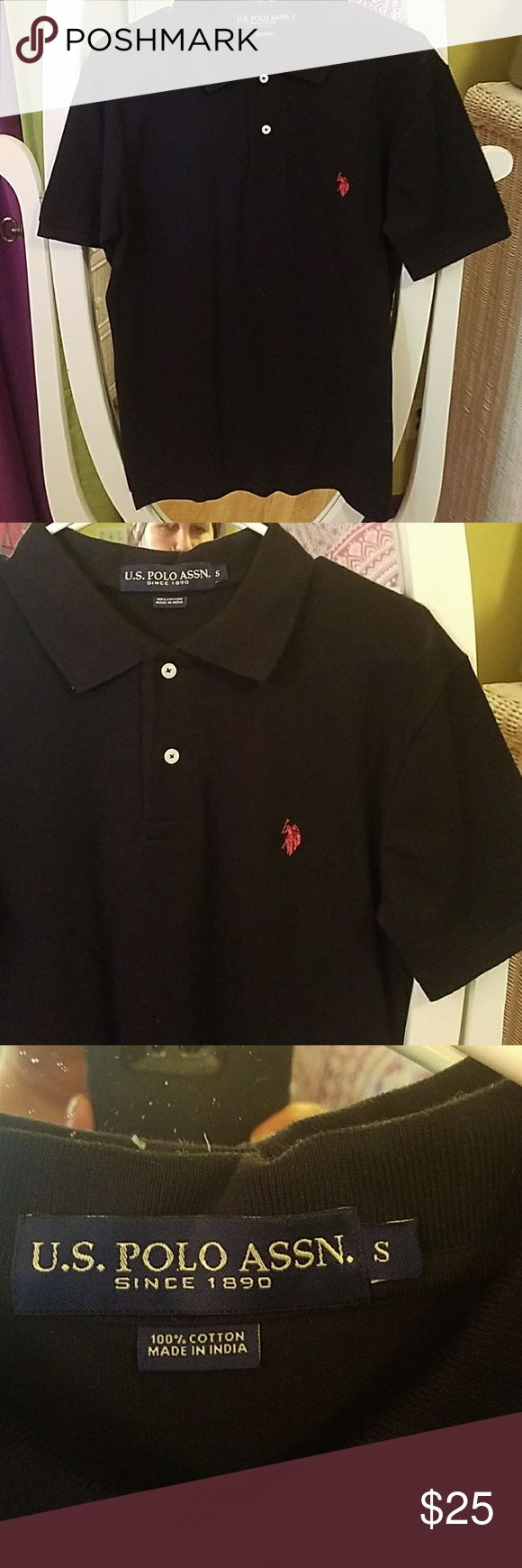 POLO SIZE SMALL NEW WITH OUT TAGS.  BEAUTIFUL POLO. THE BLACK WITH RED HORSE MAKES IT STAND OUT NICELY. . US POLO ASSOCIATION  Shirts Polos