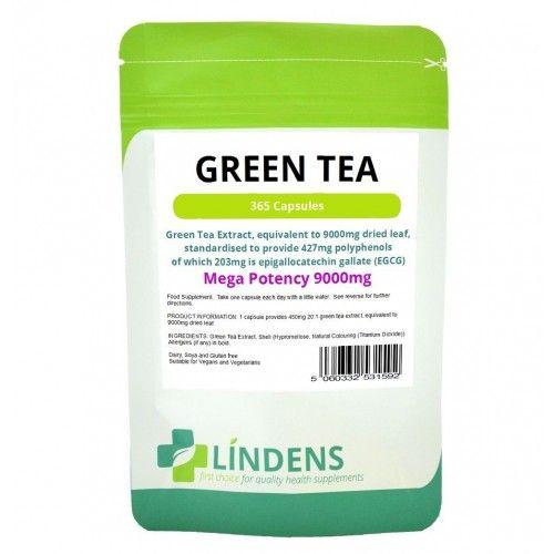 Green Tea 9000mg -high strength fat burner, weight loss, 365 Capsules