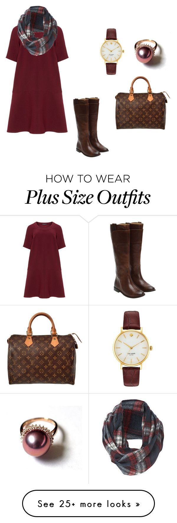 """""""Plaid"""" by oliviaf14 on Polyvore featuring Manon Baptiste, New Look, Frye, Louis Vuitton and Kate Spade"""