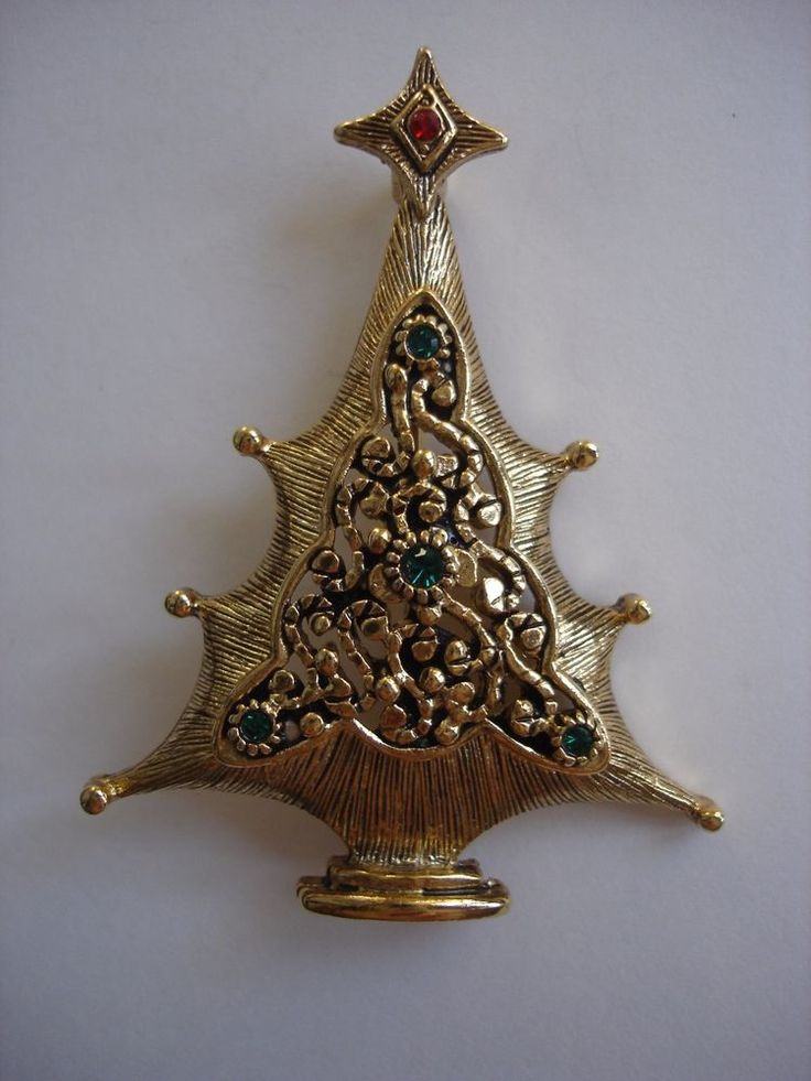 vintage rhinestone christmas tree pin   Jewelry & Watches, Vintage & Antique Jewelry, Costume   eBay!