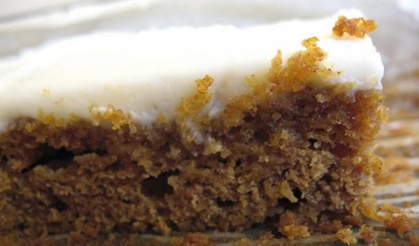 Pumpkin Squares with Cream Cheese Icing Recipe - quick & easy treat for Fall