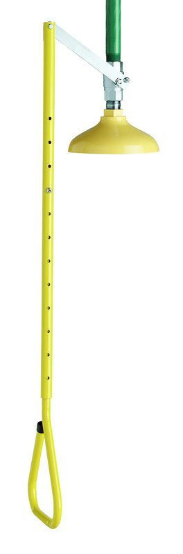 "Speakman SE-220-ADA Vertical Overhead Shower Supply with Impeller Action 1"" Sta Yellow / Green Emergency Equipment Shower Shower"
