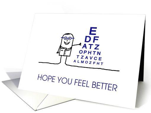 Get Well Soon Feel Better After Eye Surgery Card Cards And Gifts Get Well Soon Feel Better