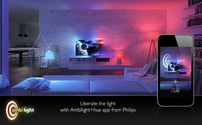 philips hue light strips colors mood all controlled by your iphone android or api sky. Black Bedroom Furniture Sets. Home Design Ideas