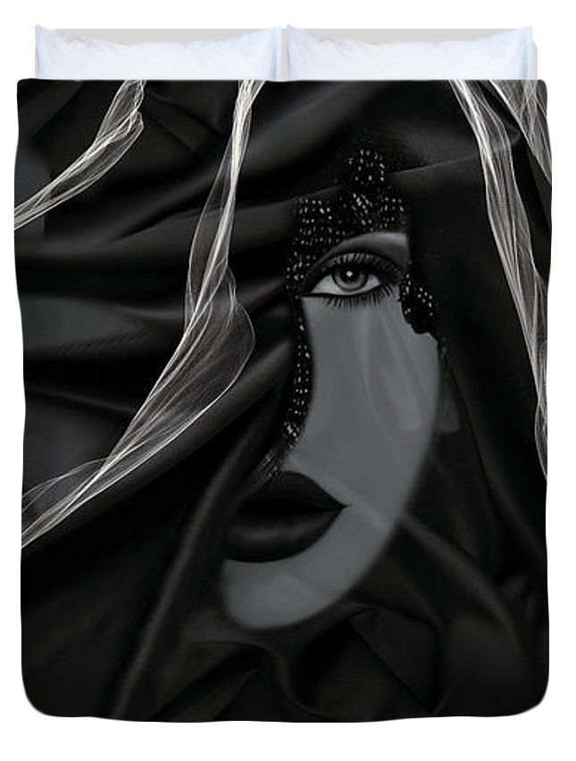 Dark Duvet Cover (Queen) by Muge Basak.  Available in king, queen, full, and twin.  Our soft microfiber duvet covers are hand sewn and include a hidden zipper for easy washing and assembly.  Your selected image is printed on the top surface with a soft white surface underneath.  All duvet covers are machine washable with cold water and a mild detergent.