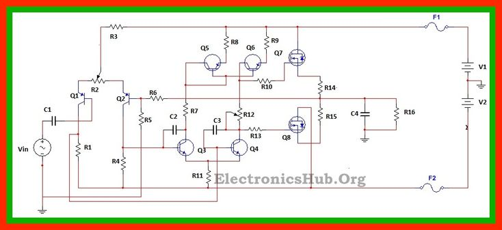 100Watt MOSFET Power Amplifier Circuit Working and Applications | Electronics | Circuit, Circuit