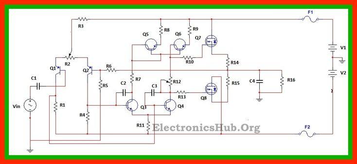 100Watt MOSFET Power Amplifier Circuit Working and Applications | Electronics | Circuit, Circuit