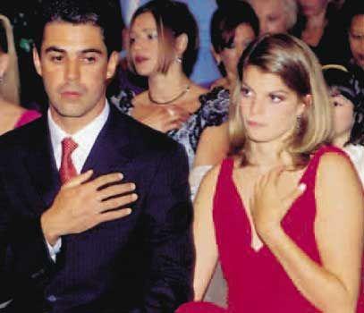 Athina Onassis, integrada totalmente en la familia de su novio, Doda Miranda