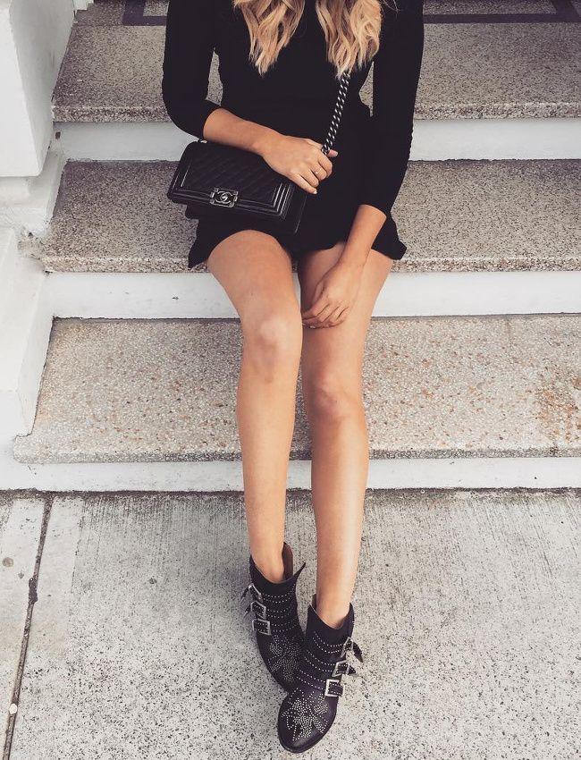 Le parfait total look noir #179 (sac Chanel - instagram Elle Ferguson)
