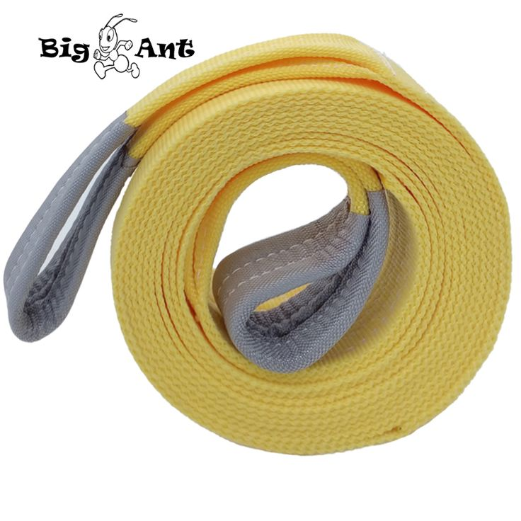 """Big Ant Nylon Recovery tow Strap rope11023-17636 Lb Capacity Emergency Heavy Duty Towing Ropes(2.95"""" x 19.68')"""