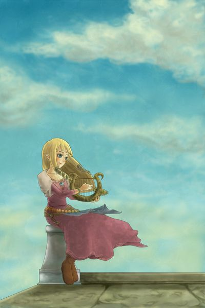 Zelda from Skyward Sword - Legend of Zelda - fan art