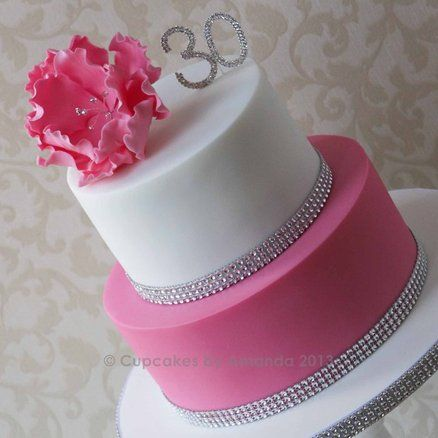 Pink & White Fantasy Flower Cake