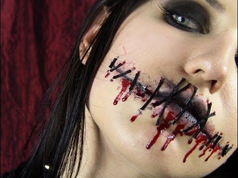 bloody stitches makeup - Google Search