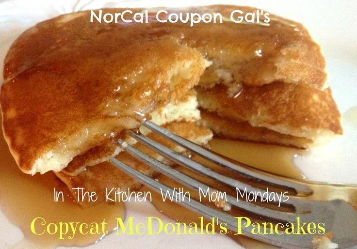 In The Kitchen With Mom Mondays - Copycat McDonald's Pancakes Recipe - NorCal Coupon Gal